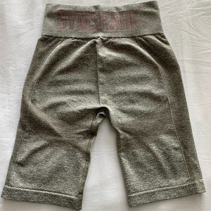 GYMSHARK flex cycling shorts in khaki marl/taupe